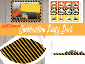 Free Printable Construction Party Pack!