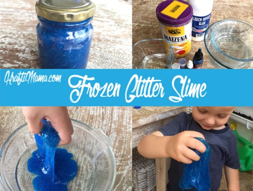 Bouncy Frozen Glitter Slime!