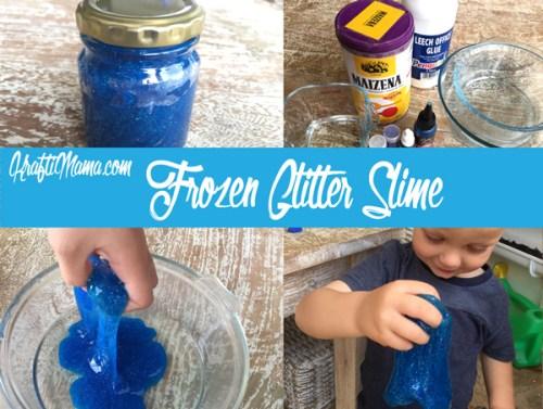 Bouncy Frozen Glitter Slime!