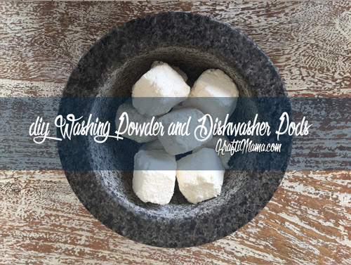 diy washing powder, dishwasher pods
