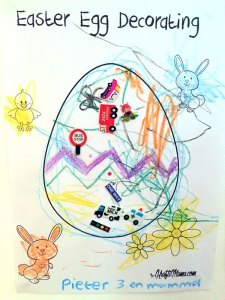 easter egg decorating, coloring, printable