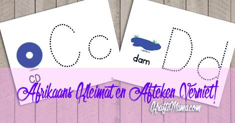 KraftiMama Free Printables, C D Kleimat en Afteken