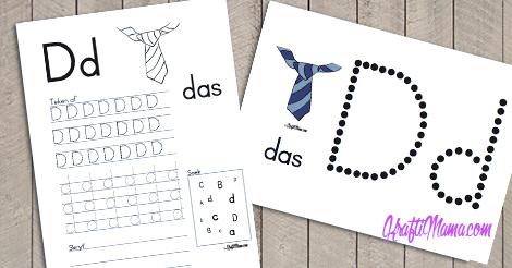 KraftiMama Free Printables, Afrikaans Alfabet