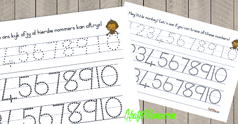 Number Tracing Free Printable!!