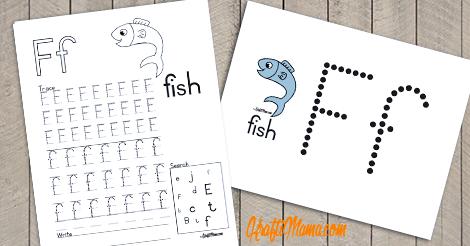 Alphabet Printable F for Fish FREE!