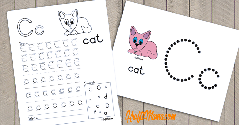 Alphabet Printable C for Cat FREE!