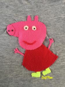 KraftiMama Crafts, DIY, Peppa Pig Shirt Felt