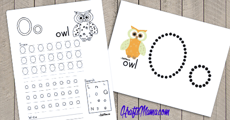 Alphabet Printable O for Owl FREE!