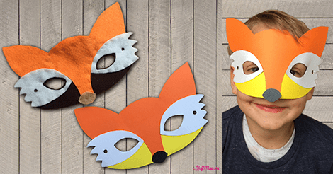 Kraftimama Fox Mask, woodland creatures, mask download