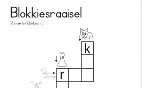 Alfabet Blokkiesraaisel verniet!