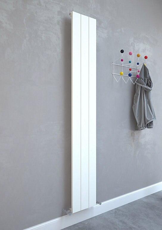 Balts vertikālais radiators 1800x280 3