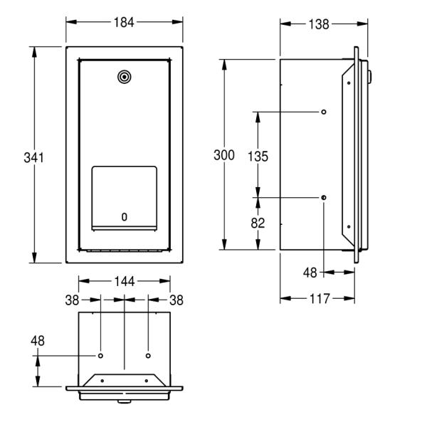 FRANKE iebūvējamais tualetes papīra turētājs 2