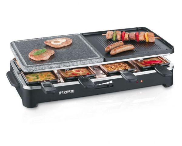Severin RG 9645 black Raclette Grill with natural grill stone (9645) 1