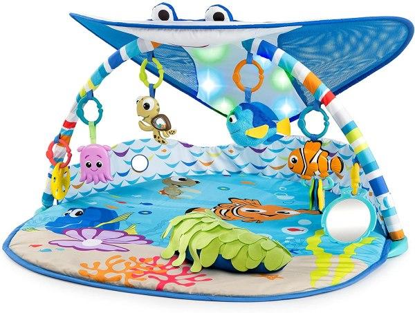 Bright Starts Disney Baby Mr. Ray Ocean Lights mazuļu aktivitāšu laukums 2