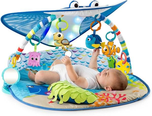 Bright Starts Disney Baby Mr. Ray Ocean Lights mazuļu aktivitāšu laukums 1