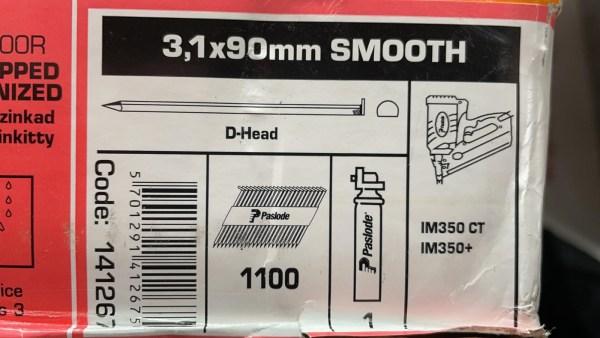PASLODE 3,1x90mm naglas 141267 2