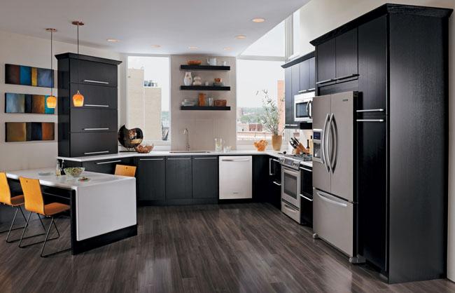 Quartersawn Oak Kitchen in Onyx  KraftMaid
