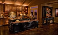 Rustic Birch Kitchen in Praline and Cherry in Vintage Onyx