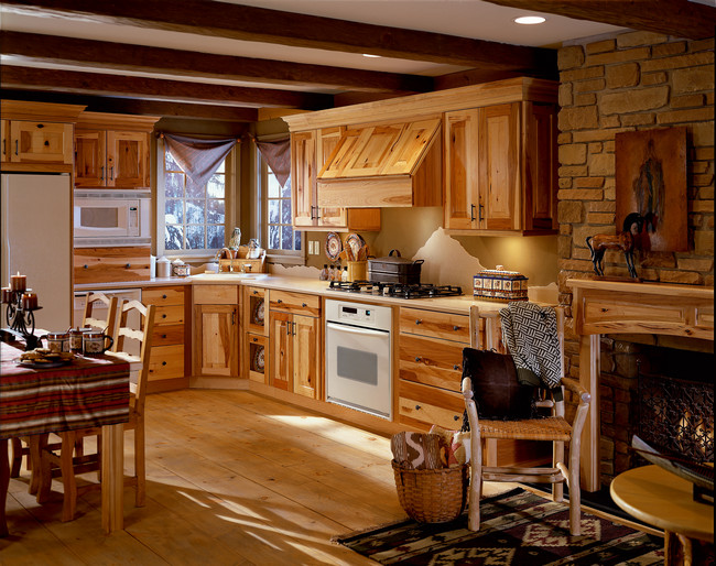 rustic hickory kitchen cabinets tile refinishing in natural kraftmaid room details