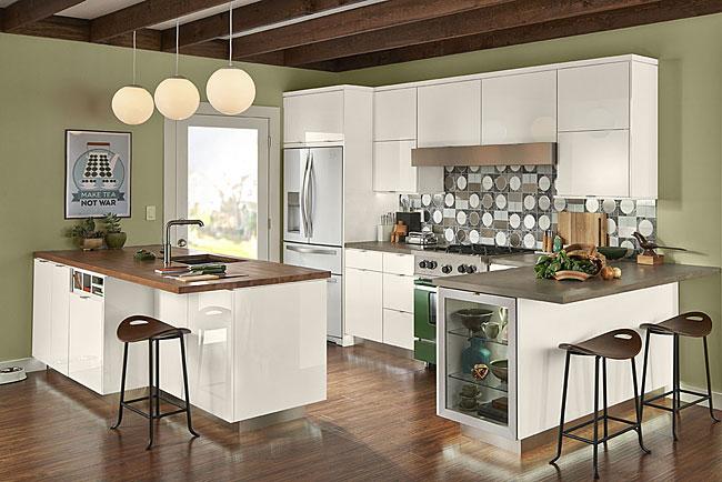 High Gloss Foil Kitchen In Dove White KraftMaid