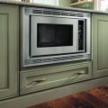 Storage solutions details base built in microwave cabinet