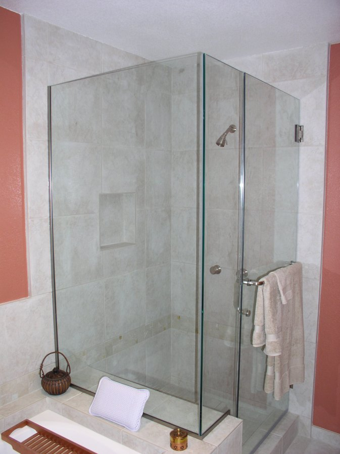 Bathtub conversion to custom shower stall  Kitchens Intuitions  Tips ideas designs styles
