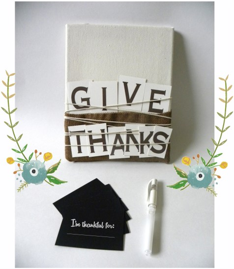 kraft&mint givethanks board