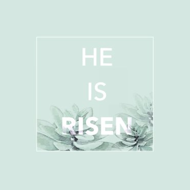 He is Risen, thoughts about why Jesus died on the cross by kraft&mint