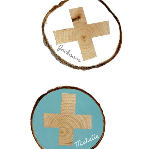 DIY Wood Coasters kraft&mint