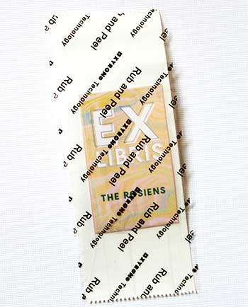 DIY Marble bookplate stickets