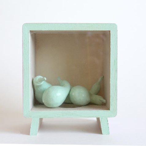 DIY Shadow Box with Gourds