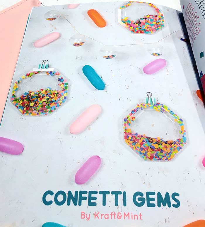 DIY Confetti Gems for Caboodle Magazine