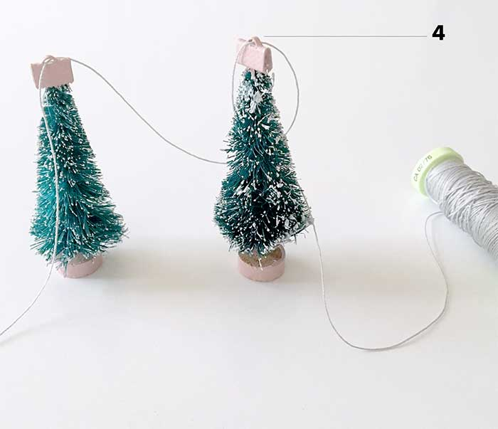 DIY Christmas trees garland
