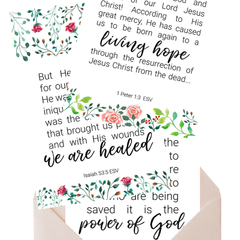 Bible verses cards by pageofjoy