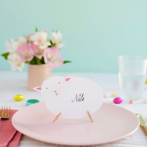 Sheep nametags by Oh happy day