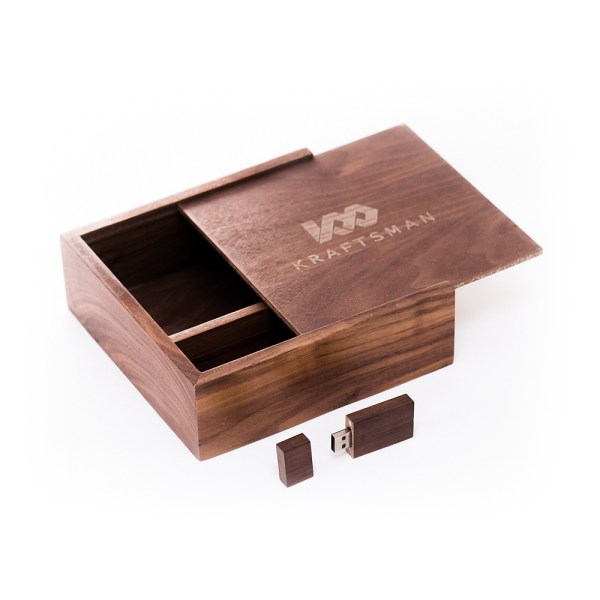 Premium Walnut Box and Walnut USB Combo