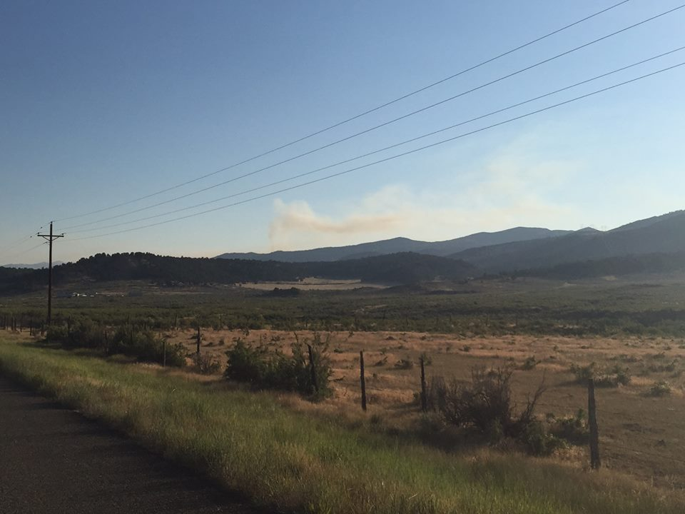 New fire north of meeker for Wilson creek