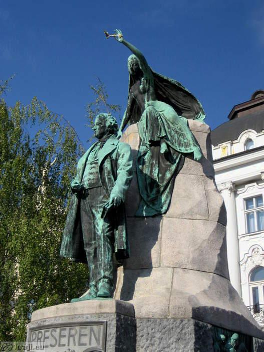 Ljubljana  Monument to France Preseren