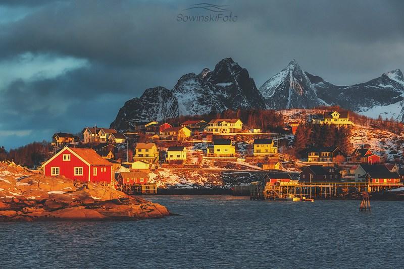 Norwegia wyspa druk