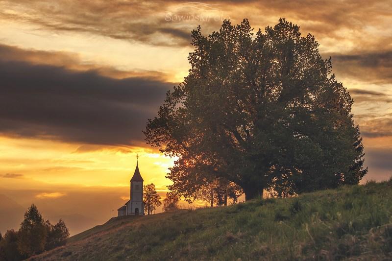Słowenia kościół krajobraz