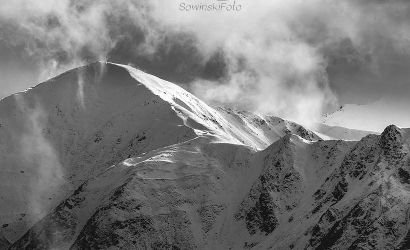 Tatry zima krajobraz druk