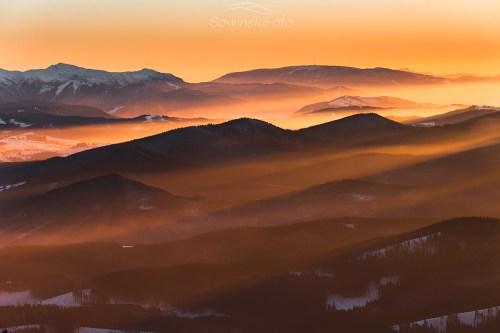 Pilsko zachód słońca zdjęcie
