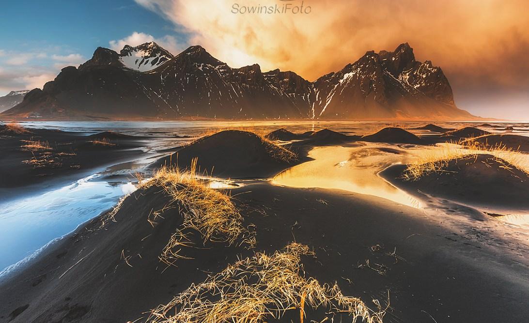 Góry i morze kup zdjęcie na płótnie
