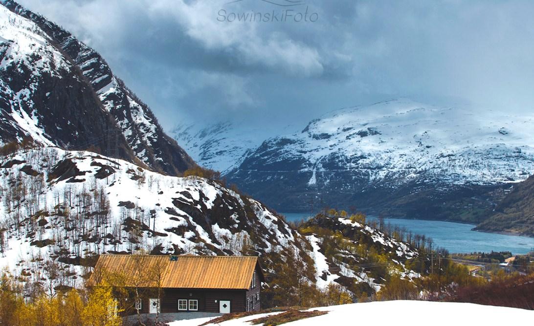 Krajobraz Norwegia druk