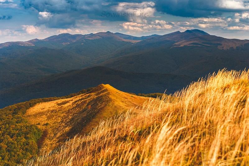 Krajobraz górski Bieszczady