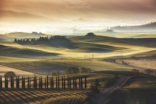 Wschód słońca Toskania