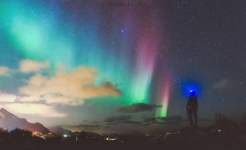 lofoty zorza Zdobywca nieba/ Norwegia