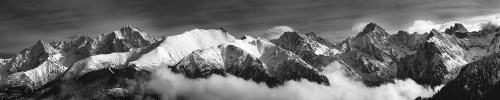 Tatry czarno białe zdjęcie W objęciach