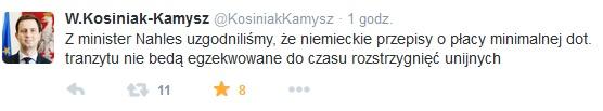 tweet wladyslawa kosiniaka kamysza
