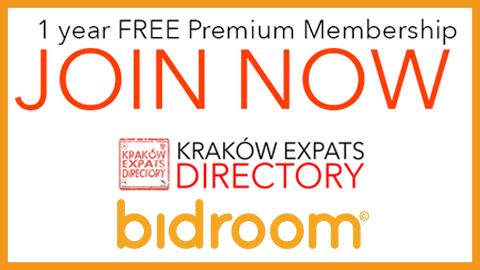 Kraków Expats Directory Offers Free Bidroom 1 year Premium Membership